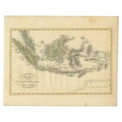 Antique Map of the Dutch East Indies by Van den Bosch '1818'