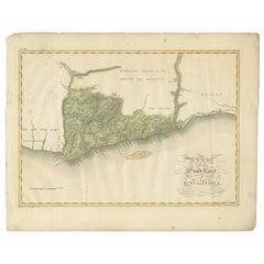 Antique Map of the Dutch Gold Coast by Van den Bosch '1818'