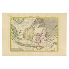 Antique Map of the East Indies by Bonne '1776'