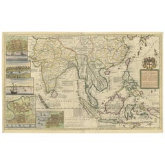Antique Map of the East Indies by H. Moll, circa 1710