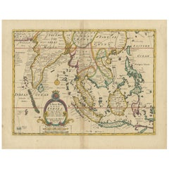Antique Map of the East Indies by Wells, 1712
