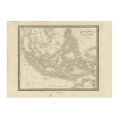 Antique Map of the East Indies by Wyld '1845'