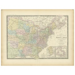 Antique Map of the Eastern United States by Levasseur '1875'