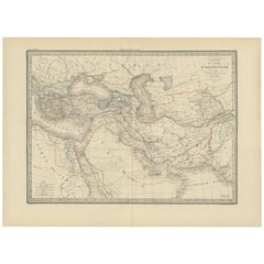 Antique Map of the Empire of Alexander the Great by Lapie, 1842