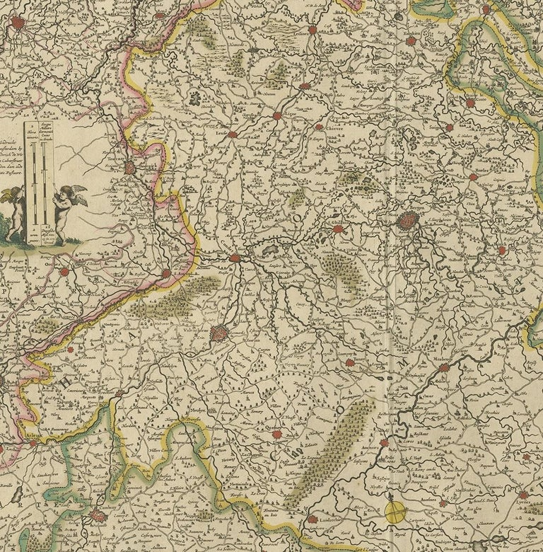Antique Map of the Hainaut Region 'France' by F. de Wit, circa 1680 In Good Condition For Sale In Langweer, NL