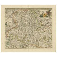Antique Map of the Hainaut Region 'France' by F. de Wit, circa 1680