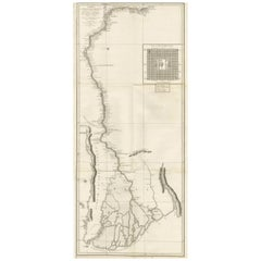 Antique Map of the Irrawaddy or Ayeyarwady River by Symes, 1800