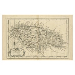 Antique Map of the Island of Jamaica by Bellin, '1758'