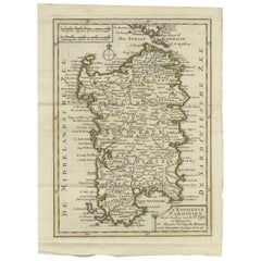 Antique Map of the Kingdom of Sardinia by Keizer & de Lat, 1788