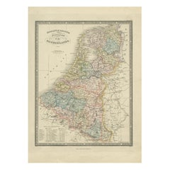 Antique Map of the Kingdom of the Netherlands by Wyld '1845'