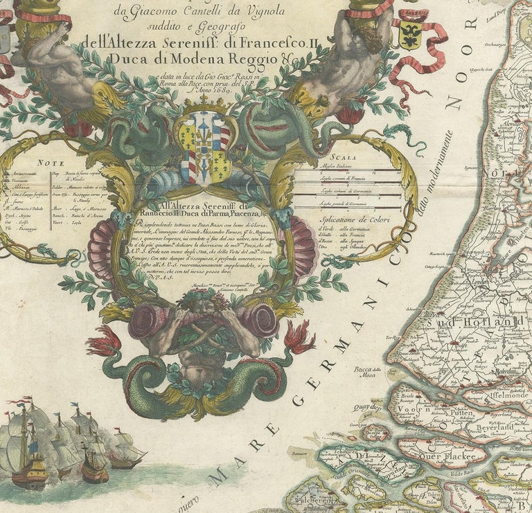 17th Century Antique Map of the 'Low Countries' by a. Barbey For Sale