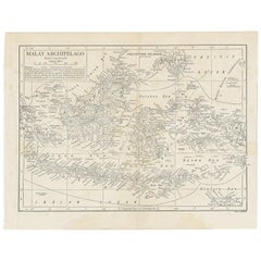 Antique Map of the Malay Archipelago by Walker, 1911