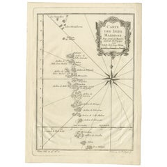 Antique Map of the Maldives by Bellin 'c.1750'
