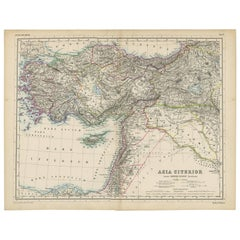 Antique Map of the Middle East by H. Kiepert, circa 1870