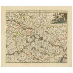 Antique Map of the Namur Region 'France' by F. de Wit, circa 1680