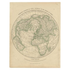 Antique Map of the Northern Hemisphere by Lowry, '1852'