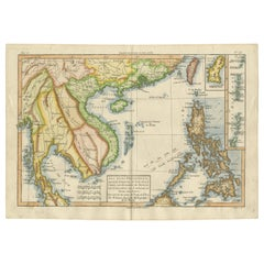 Antique Map of the Philippines, Taiwan and Surroundings by Bonne '1780'
