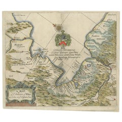 Antique Map of the Province of Kilan by Olearius '1662'
