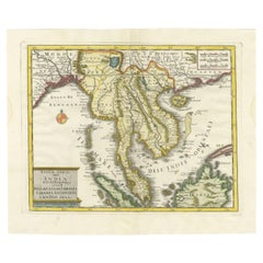 Antique Map of the Region Centered on the Malay Peninsula by Tirion 'c.1760'