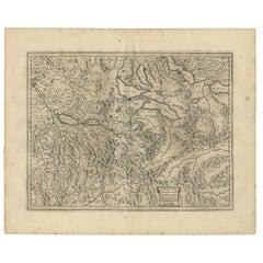 Antique Map of the Region of Aargau by Janssonius, '1657'