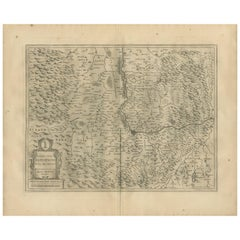 Antique Map of the Region of Basel by Janssonius '1657'