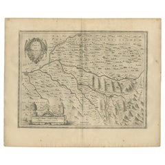 Antique Map of the Region of Béarn by Janssonius '1657'