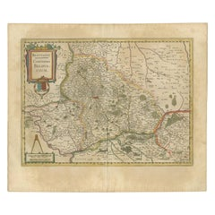 Antique Map of the Region of Beauvais by Hondius, circa 1630