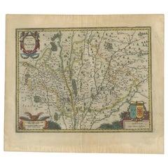 Antique Map of the Region of Blois by Janssonius, 'circa 1640'