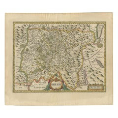 Antique Map of the Region of Bresse by Hondius, circa 1630