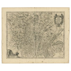Antique Map of the Region of Burgundy by Janssonius '1657'