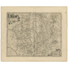 Antique Map of the Region of Champagne and Brie by Janssonius '1657'