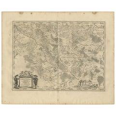 Antique Map of the Region of Charolais by Janssonius, 1657