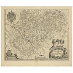 Antique Map of the Region of 'Île de France' by Janssonius, circa 1650