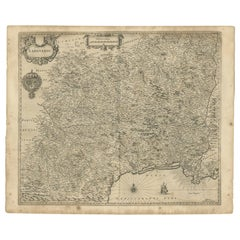 Antique Map of the Region of Languedoc by Janssonius, '1657'