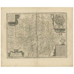 Antique Map of the Region of Limoge by Janssonius, '1657'