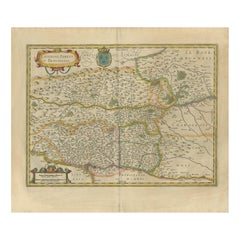 Antique Map of the Region of Lyon by Hondius, circa 1630