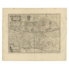 Antique Map of the Region of Lyonnais by Janssonius, '1657'