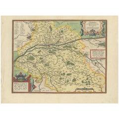 Antique Map of the Region of Touraine by Ortelius 'circa 1600'