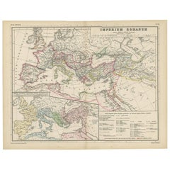 Antique Map of the Roman Empire by H. Kiepert, circa 1870