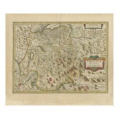 Antique Map of the Savoy Region by Hondius, circa 1630