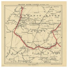 Antique Map of the Southern Part of the Orange River Colony by Stanford, 1901