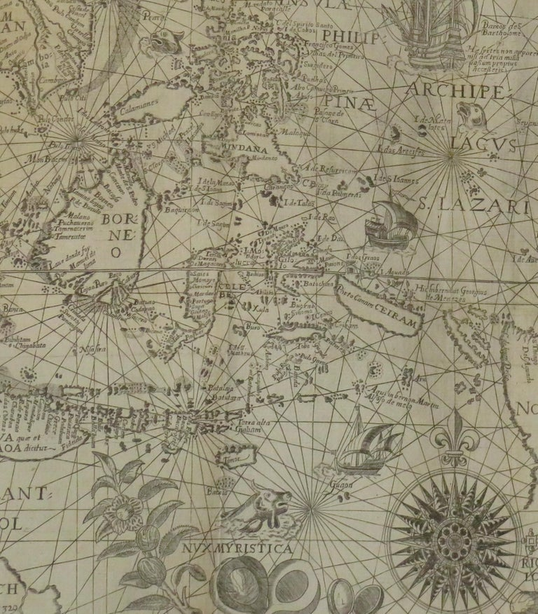 18th Century and Earlier Antique Map of the Spice Islands by Van Linschoten, 1598 For Sale