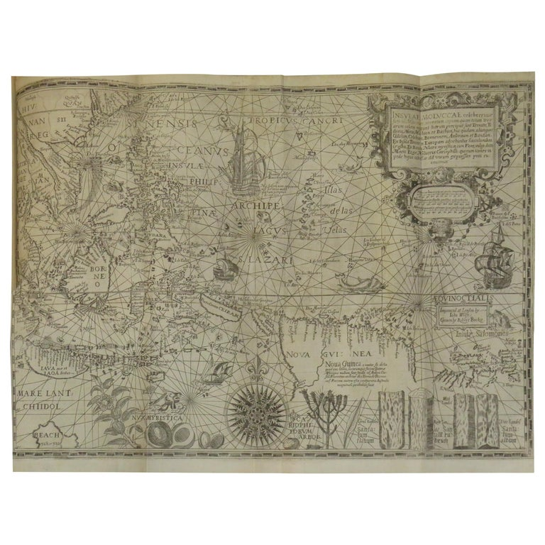 Antique Map of the Spice Islands by Van Linschoten, 1598 For Sale