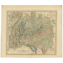 Antique Map of the Swabia Region of Germany by Cary, '1811'