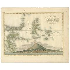 Antique Map of the Ternate Islands by Van den Bosch '1818'