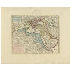 Antique Map of the Turkish Empire by Tirion 'c.1760'