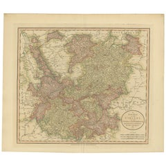 Antique Map of the Upper and Lower Rhine by Cary '1811'