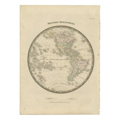 Antique Map of the Western Hemisphere by Wyld '1845'