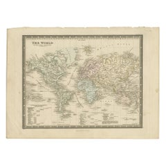 Antique Map of the World, Mercator Projection, by Wyld, '1845'