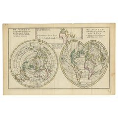 Antique Map of the World with California as an Island by Keizer & de Lat '1788'